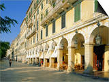 Liston Arcades  Corfu Town  Corfu  Ionian Islands  Greece  Europe