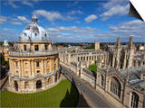 View over Radcliffe Camera and All Souls College  Oxford  Oxfordshire  England
