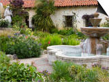 Fountain at Mission San Carlos Borromeo  Carmel-By-The-Sea  Monterey County  California  United Sta