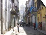Typical Residential Street in Havana Vieja  Havana  Cuba