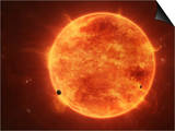 A Massive Red Dwarf Consuming Planets Within it's Range