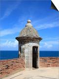 Sentry  San Cristobal Fort  UNESCO World Heritage Site  San Juan  Puerto Rico  USA