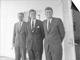 Digitally Restored Photo of President John Kennedy with His Brothers