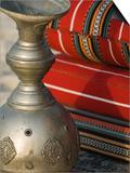 Arabic Cushions and Pot  Dubai  United Arab Emirates  Middle East