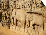 Arjuna's Penance Granite Carvings  Mamallapuram (Mahabalipuram)  UNESCO World Heritage Site  India