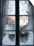 View of Bad Tolz Spa Town Covered By Snow at Sunrise From Window  Bavaria  Germany  Europe