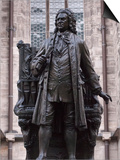 Statue of Bach  Leipzig  Saxony  Germany  Europe