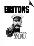 English World War I Propaganda Poster Featuring Lord Kitchener