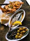 Marinated Sardines  Fried Scampi and Olives
