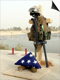Fallen Soldier's Gear  Camp Baharia  Iraq  June 12  2007