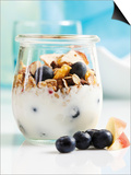 Yoghurt with Muesli  Blueberries  Apple and Dried Fruit