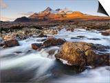 Sunrise View of Black Cuillin Mountain Sgurr Nan Gillean  Glen Sligachan  Isle of Skye  Scotland