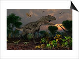 Prehistoric Dinosaurs Roam Freely Where Time Stands Still