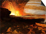 A Scene on Jupiter's Moon  Io  the Most Volcanic Body in the Solar System