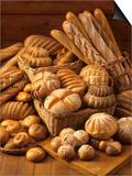 Still Life with White Bread  Bread Rolls & Bread Sticks