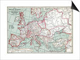 Map Of Europe  12Th Century