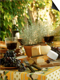 Buffet with Cheese and Grapes
