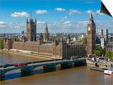 Buses Crossing Westminster Bridge by Houses of Parliament  London  England  United Kingdom  Europe