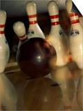 Bowling Ball Striking Pins