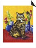 Cat and Tulips II (Chat Tulipes II)