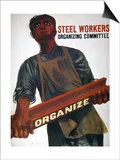 Shahn: Steel Union Poster
