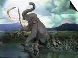 Mammoth Hunt  Lower Paleolithic era  Reconstruction