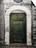 Green door in Penne