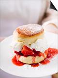 Strawberry Shortcake with Cream