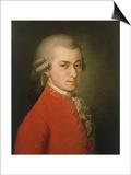 Posthumous Painting of Wolfgang Amadeus Mozart  1756-1791