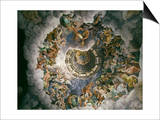View of Olympus  Home of the Gods  Fresco in the Room of the Giants