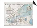 New York City Map  1728