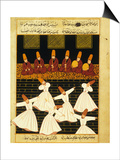 Konya Whirling Dervishes Ritual  16th Century  Ottoman Miniature of the Anatolian School