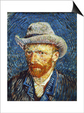 Self Portrait with Grey Felt Hat  c1887
