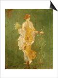 Goddess Flora  or Spring  Roman  Fresco  from Villa di Arianna