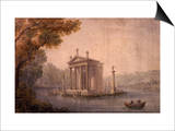 Small Temple of Asclepius  Villa Borghese  Rome  Late 18th Century Watercolour