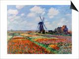 Monet: Tulip Fields  1886