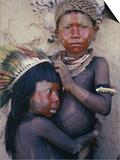 Caipo Indian Children  Xingu River  Brazil