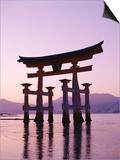 Sunset  Torii Gate  Itsukushima Shrine  Miyajima Island  Honshu  Japan
