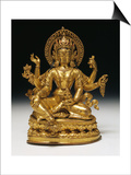 Vasudhara the Goddess of Wealth in Gilt Copper  16th Century