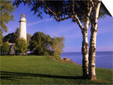 Pointe Auxbarques Lighthouse  Lake Huron  Pointe Auxbarques  Michigan  USA