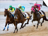 Horse Racing on the Beach  Sanlucar De Barrameda  Spain