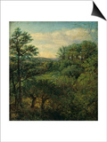 Valley Scene with Trees