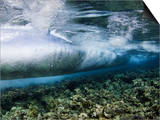 Underwater View of Surf Crashing over the Reef in Tubbataha National Park  Philippines