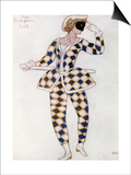 Costume Design for Harlequin  from Sleeping Beauty  1921