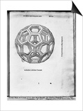 """Icosahedron  from """"De Divina Proportione"""" by Luca Pacioli  Published 1509  Venice"""