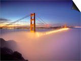 Layer of Low Fog and the Golden Gate Bridge  San Francisco  California  USA