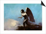 The Winged Man Or  Fallen Angel  Before 1880