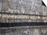 Anthracite Coal Seam in Cretaceous Sandstone Layers  Central Utah  USA