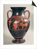 Attic Red-Figure Belly Amphora of Herakles Capturing Kerberus  Greek  from Athens  6th Century B