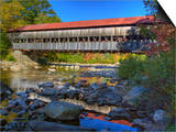 Albany Covered Bridge over Swift River  White Mountain National Forest  New Hampshire